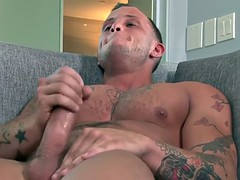 muscly private jerks cock
