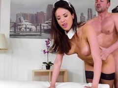 Busty maid Anissa Kate fucks the man of the house