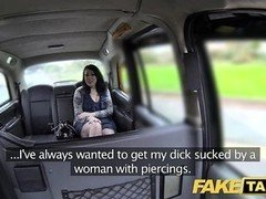 Fake Taxi caught by security one evening before big facial cumshot