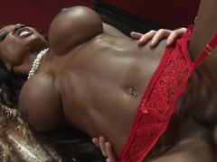Super naughty black MILF needs some white meat pole right now