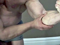 Adoration of muscle daddy's boy