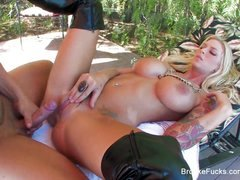 Brooke Banner keeps her boots on when she gets fucked