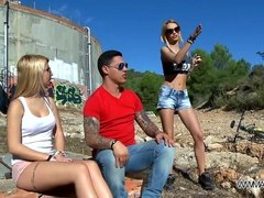 MyFirstPublic - Accidental threesome with two hot babes