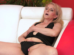A granny places her mouth around a dick and she gets fucked hard
