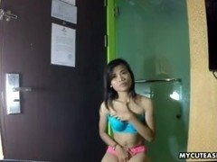 Solo session from a wide nosed Asian babe