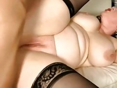 brunette bbw babe banged hard in the ass