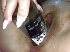 Glass bottle get her juices flowing