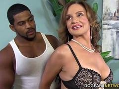 Busty Cougar Rebecca Bardoux Loves BBC Anal