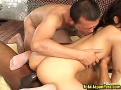 Pov banged asian babe sprayed with hot jizz