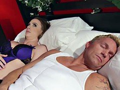 Married woman Chanel Preston gets titfucked and her pussy plowing by thief