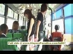 Mihiro Chinese xxx movie star enjoys a making love on the bus