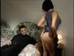 Italian Sexually available mom Brunette Strokes And moreover Gives blowjob Cum cannon
