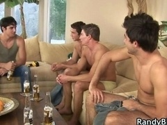 Super hot studs in man-loving foursome porn