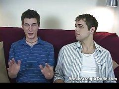 Hot and horny hetero guys having gay sex