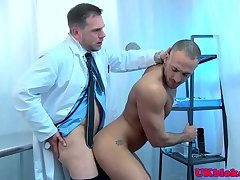 Muscular stud assfucked at drs examination