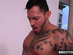 Latin gay ass to mouth with facial