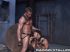 RagingStallion Myles Landon Pounds Ass in Leather