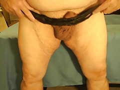Whipping my little dick and fat ass