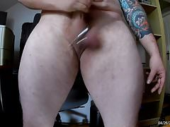 Jerking Off 1, Closed Fist Dildo in ass