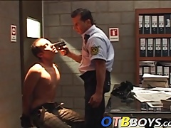 Sexy little twink becomes a prison bitch for a mature guy