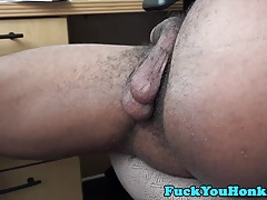 Straight white amateur plowed by black cock