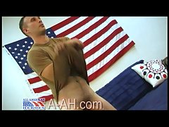 Naughty Soldier Whacking Off All Alone