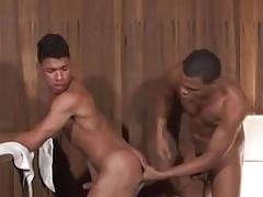 Brazilian duo fucking in the sauna