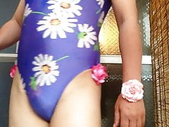 crossdresser One piece swimwear