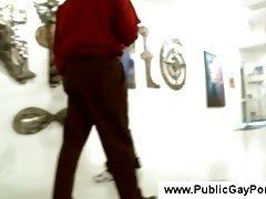 Public blowjob at an art exhibition