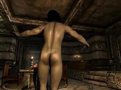 Game Sex Mod #3:  Skyrim DANCE DANCE