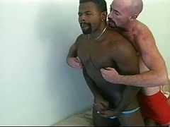 Lifeguard gives ebony CPR- Love pole,Pounding & Ramming