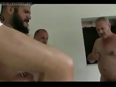 Ol Man Gangbang Fucked in Sling