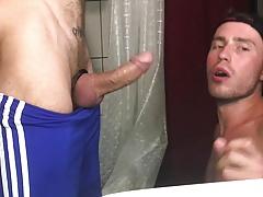 nasty dudes copulate in a toilet