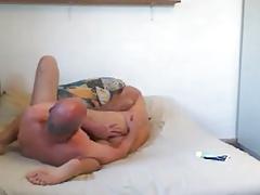 grandpa couple in bed