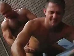 Strong buddies drill in the prison
