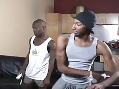 three guys is a three gay friends sharing cocks