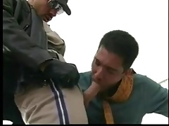Gay Group Sex Doesnt Stop Even As The Cops Show Up