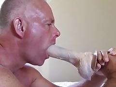 Deepthroat a dildo