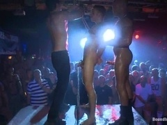 A queer gets his ass fisted in public and enjoys it
