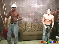 Asian twink gets assfucked by black thugs