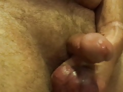Balls getting jacked small dick bouncing around