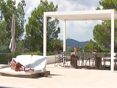 Naked man alone on his finca Part 1