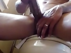 Married black guy jerks off his huge cock