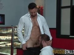 Hairy stud anally fucking