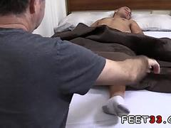 Gay foot fetish Tommy Gets Worshiped In His Sleep