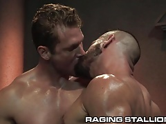 RagingStallion Sweaty Studs Thick Cocks 3Some
