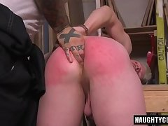 Tattoo son spanking and cumshot
