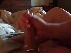 Str8 Guys Cock Getting Milked by Girlfriend  ( Hand Job )