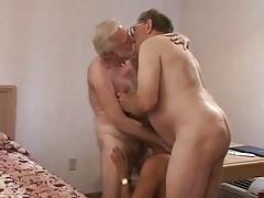 hot mature older guy threesome