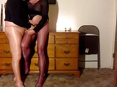pals perverting in pantyhose